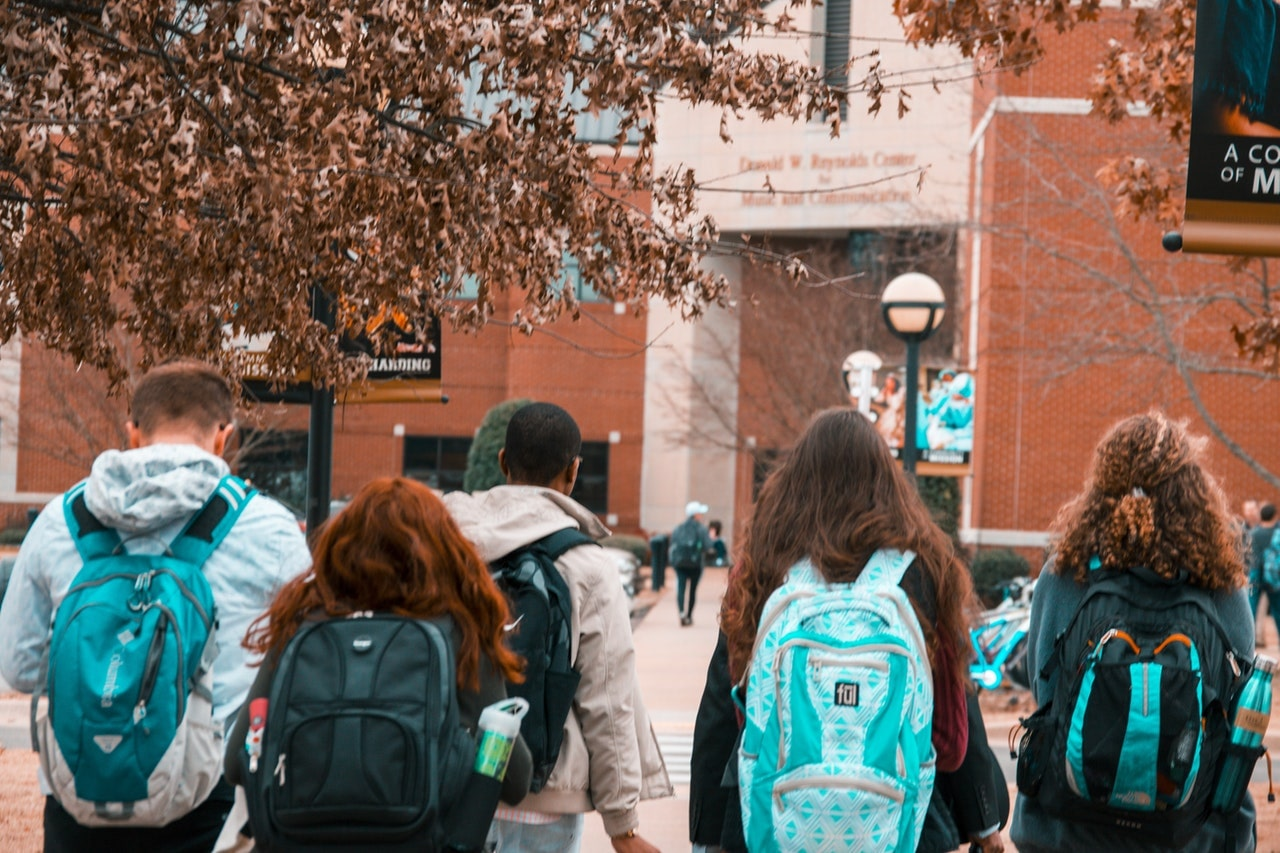International Students Walking