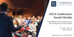 Rahbaran Law EB-5 Speaking AILA Event